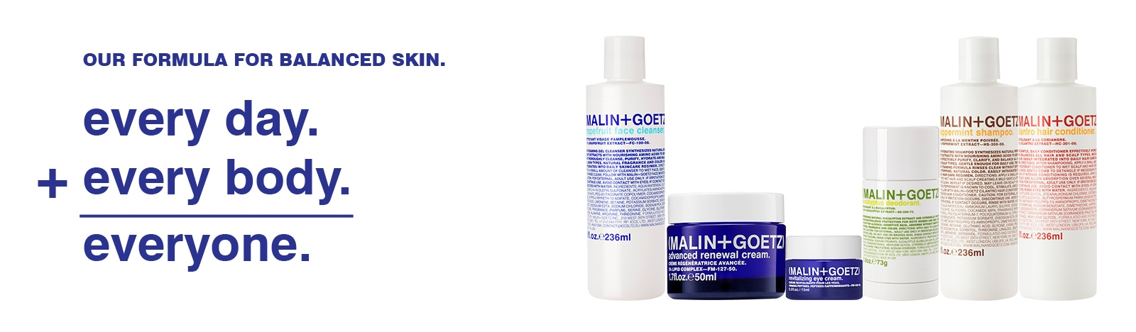 our formula for balanced skin